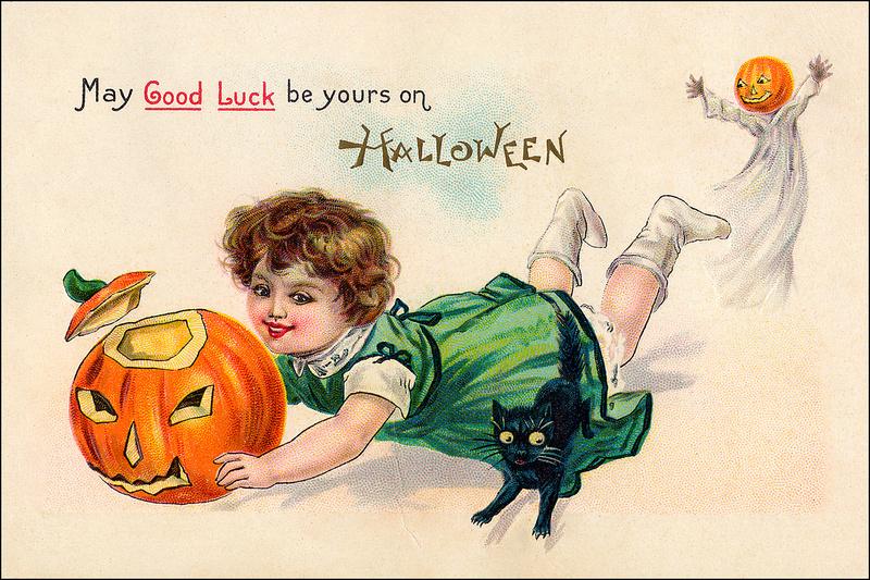 Vintage Halloween 1 Card
